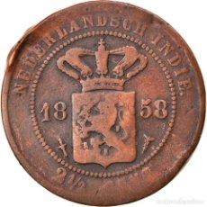 Monedas antiguas de Europa: [#834714] MONEDA, INDIAS ORIENTALES HOLANDESAS, WILHELMINA I, 2-1/2 CENTS, 1858, UTRECHT. Lote 269586348
