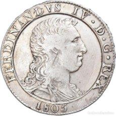 Monedas antiguas de Europa: [#907953] MONEDA, ESTADOS ITALIANOS, NAPLES, FERDINANDO IV, 120 GRANA, 1805, RARE, MBC+. Lote 269586638