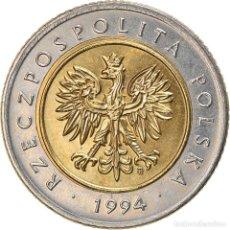 Monedas antiguas de Europa: [#886396] MONEDA, POLONIA, 5 ZLOTYCH, 1994, WARSAW, EBC, BIMETÁLICO, KM:284. Lote 269588218