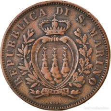 Monedas antiguas de Europa: [#834713] MONEDA, SAN MARINO, 10 CENTESIMI, 1893, ROME, MBC, COBRE, KM:2. Lote 269588253