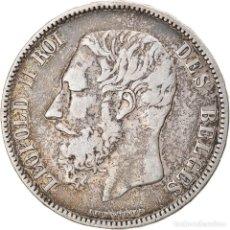 Monedas antiguas de Europa: [#834707] MONEDA, BÉLGICA, LEOPOLD II, 5 FRANCS, 5 FRANK, 1870, BC+, PLATA, KM:24. Lote 269588358