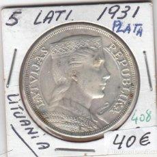 Monedas antiguas de Europa: CR0408 MONEDA LITUANIA 5 LATI 1931 PLATA 40. Lote 269718663