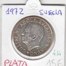 Monedas antiguas de Europa: CR0414 MONEDA SUECIA PLATA 10 KRONER 1972 15. Lote 269719288