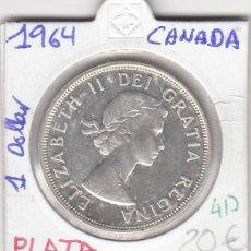 Monedas antiguas de Europa: CR0417 MONEDA CANADA 1 DOLAR 1964 PLATA 20. Lote 269719573
