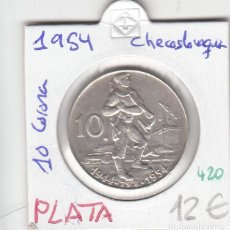 Monedas antiguas de Europa: CR0420 MONEDA CHECOSLOVAQUIA 10 CORONAS 1954 PLATA 12. Lote 269720018