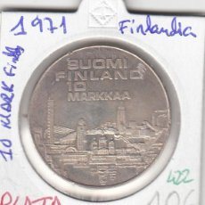 Monedas antiguas de Europa: CR0422 MONEDA FINLANDIA 10 MARK PLATA 1971 10. Lote 269720233
