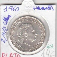 Monedas antiguas de Europa: CR0423 MONEDA HOLANDA 2,5 GULDEN PLATA 1960 14. Lote 269720348
