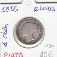Monedas antiguas de Europa: CR0430 MONEDA REINO UNIDO 1 CHELIN 1855 10. Lote 269721333