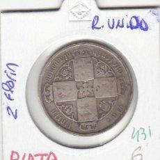 Monedas antiguas de Europa: CR0431 MONEDA REINO UNIDO 2 CHELINES 6. Lote 269721758