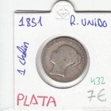 Monedas antiguas de Europa: CR0432 MONEDA REINO UNIDO 1 CHELIN 1851 7. Lote 269721878