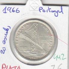 Monedas antiguas de Europa: CR0442 MONEDA PORTUGAL 20 ESCUDOS PLATA 1966 7. Lote 269722738
