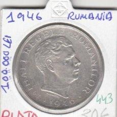 Monedas antiguas de Europa: CR0443 MONEDA RUMANIA PLATA 100000 LEIS 1946 30. Lote 269722848
