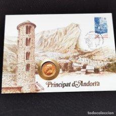 Monedas antiguas de Europa: ⚜️ A2256. ANDORRA. 25 CÉNTIMS 1986 EN SOBRE DE PRIMER DÍA. Lote 269845773