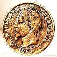 Monedas antiguas de Europa: ⚜️ A2306. BELLÍSIMA. DIFÍCIL ASÍ. 5 CENTIMES 1864 BB. FRANCIA. Lote 269846878