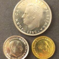 Monedas antiguas de Europa: LOTE DE 3 MONEDAS SIN SIRCULAR ESPAÑA DISTINTAS FECHAS DISTINTOS VALORES. Lote 270246798