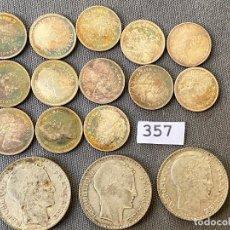 Monedas antiguas de Europa: LOTE DE MONEDAS DE PLATA , CANADA 10 CENT. 1965 , 1966 , - FRANCIA 10 FRANCS 1934 ,. Lote 270525418