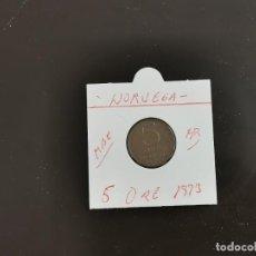Monedas antiguas de Europa: NORUEGA 5 ORE 1973 MBC KM=415 (BRONCE). Lote 270953343