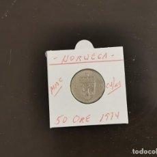 Monedas antiguas de Europa: NORUEGA 50 ORE 1974 MBC KM=418 (CUPRONIQUEL). Lote 270953973