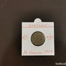 Monedas antiguas de Europa: SAARLAND 10 FRANCOS 1954 BC KM=1 (ALUMINIO-BRONCE). Lote 270955078