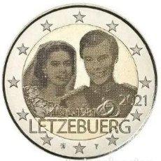 """Monedas antiguas de Europa: LUXEMBURGO 2021.- 2 EUROS HOLOGRAMA 40 ANIV. BODA REAL """"ENCAPSULADA"""". Lote 270956423"""