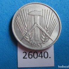 Moedas antigas da Europa: ALEMANIA COMUNISTA 5 PFENNIG 1953 A, RDA, DDR. Lote 271728273
