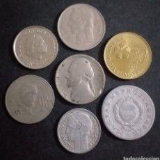 Monedas antiguas de Europa: LOTE DE 7 MONEDAS PAISES DISTINTOS FECHAS DISTINTAS Y VALORES DISTINTOS. Lote 272016288