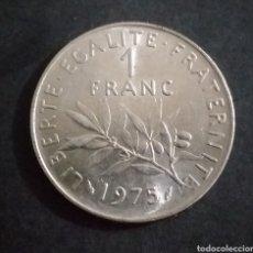 Monedas antiguas de Europa: MONEDA DE 1 FRANCO FRANCIA AÑO 1975. Lote 274025613