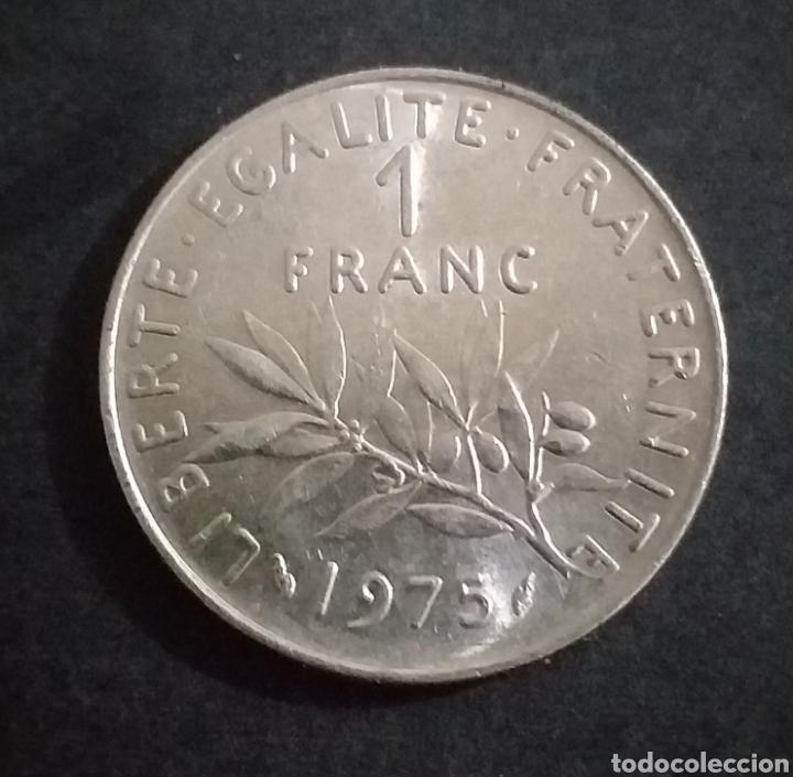MONEDA DE 1 FRANCO FRANCIA AÑO 1975 (Numismática - Extranjeras - Europa)