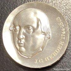 Monedas antiguas de Europa: ALEMANIA ORIENTAL, MONEDA DE PLATA DE 20 MARCOS, DEL AÑO 1978. Lote 275198328