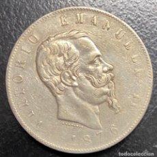 Monedas antiguas de Europa: ITALIA, MONEDA DE PLATA DE 5 LIRAS, AÑO 1876. Lote 275209713