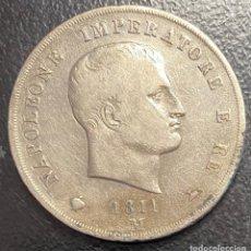 Monedas antiguas de Europa: ITALIA (CERDEÑA), MONEDA DE PLATA DE 5 LIRAS, AÑO 1811 M. Lote 275210693