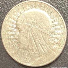 Monedas antiguas de Europa: POLONIA, MONEDA DE PLATA DE 10 ZLOTE, AÑO 1933. Lote 275224063