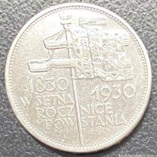 Monedas antiguas de Europa: POLONIA, MONEDA DE PLATA DE 5 ZLOTE, AÑO 1930. Lote 275224598