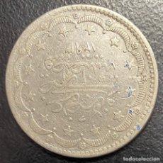 Monedas antiguas de Europa: TURQUÍA, MONEDA DE PLATA DE 20 KURUSH, AÑO 1293. Lote 275463723