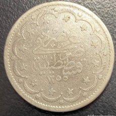 Monedas antiguas de Europa: TURQUÍA, MONEDA DE PLATA DE 20 KURUSH, AÑO 1255. Lote 275464108
