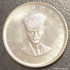 Monedas antiguas de Europa: TURQUÍA, MONEDA DE PLATA DE 25 LIRAS DEL AÑO 1970. Lote 275465108