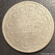 Monedas antiguas de Europa: TURQUÍA, MONEDA DE PLATA DE 2 KURUSH DEL AÑO 1277. Lote 275465483