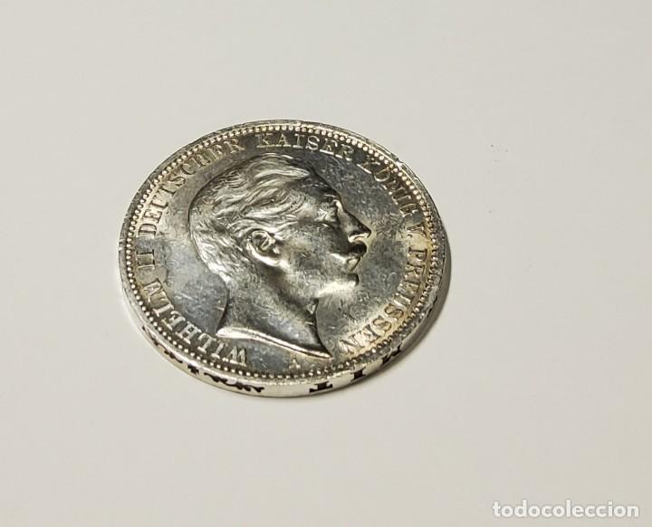 3 MARCOS DE PLATA DE ALEMANIA DEL AÑO 1911-A.CASI SIN CIRCULAR (Numismática - Extranjeras - Europa)