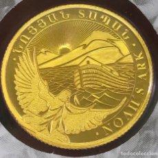 Monedas antiguas de Europa: MONEDA LINGOTE DE ORO PURO 24 KT - 1 GR - ARCA DE NOÉ 2021 ARMENIA. Lote 276019743