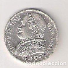Monedas antiguas de Europa: MONEDA DE 2 LIRE DE VATICANO DE 1867 DE PIO IX. PLATA. MBC (ME762). Lote 243595265