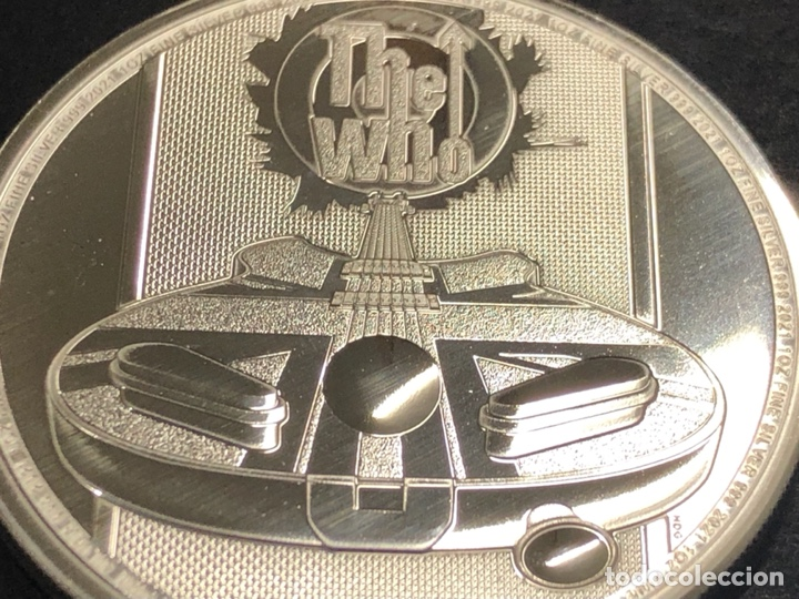 Monedas antiguas de Europa: Moneda lingote onza de plata pura - THE WHO 2021 Inglaterra - Foto 3 - 276373048