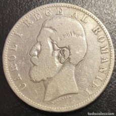Monedas antiguas de Europa: RUMANÍA, MONEDA DE PLATA DE 5 LEIS, AÑO 1882B. Lote 276619183