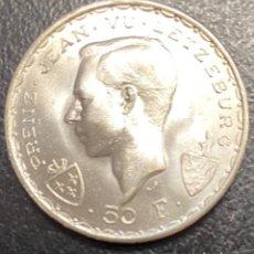 Monedas antiguas de Europa: LUXEMBURGO, MONEDA DE PLATA DE 50 FRANCOS, AÑO 1946. Lote 276643443