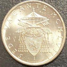 Monedas antiguas de Europa: VATICANO, MONEDA DE PLATA DE 500 LIRAS, AÑO 1958. Lote 276776203