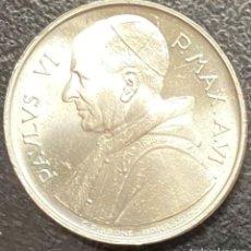 Monedas antiguas de Europa: VATICANO, MONEDA DE PLATA DE 500 LIRAS, AÑO 1968. Lote 276780683