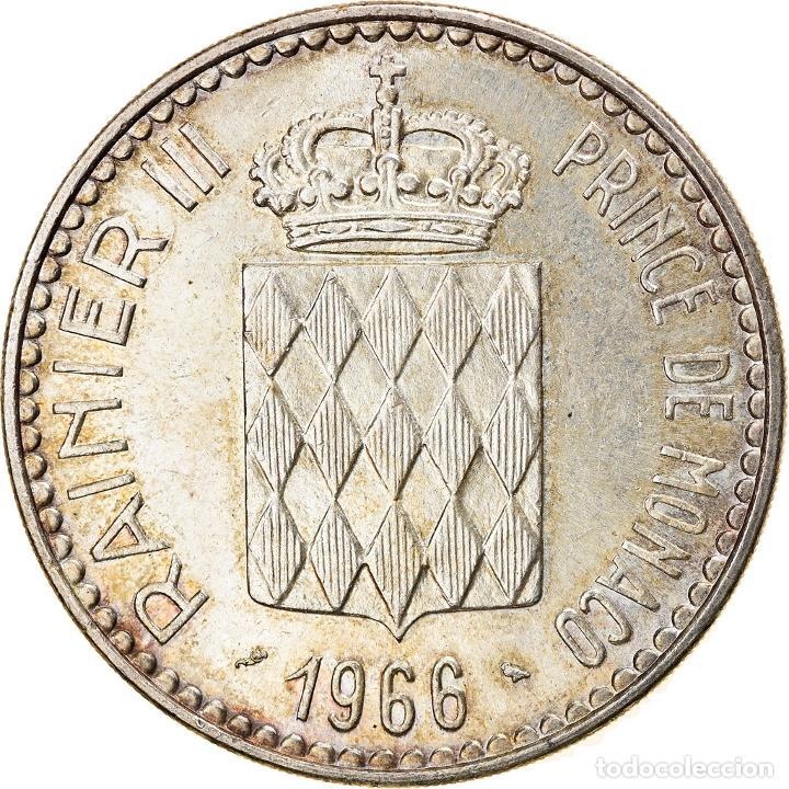 [#836054] MONEDA, MÓNACO, RAINIER III, 10 FRANCS, 1966, MBC+, PLATA, KM:146 (Numismática - Extranjeras - Europa)