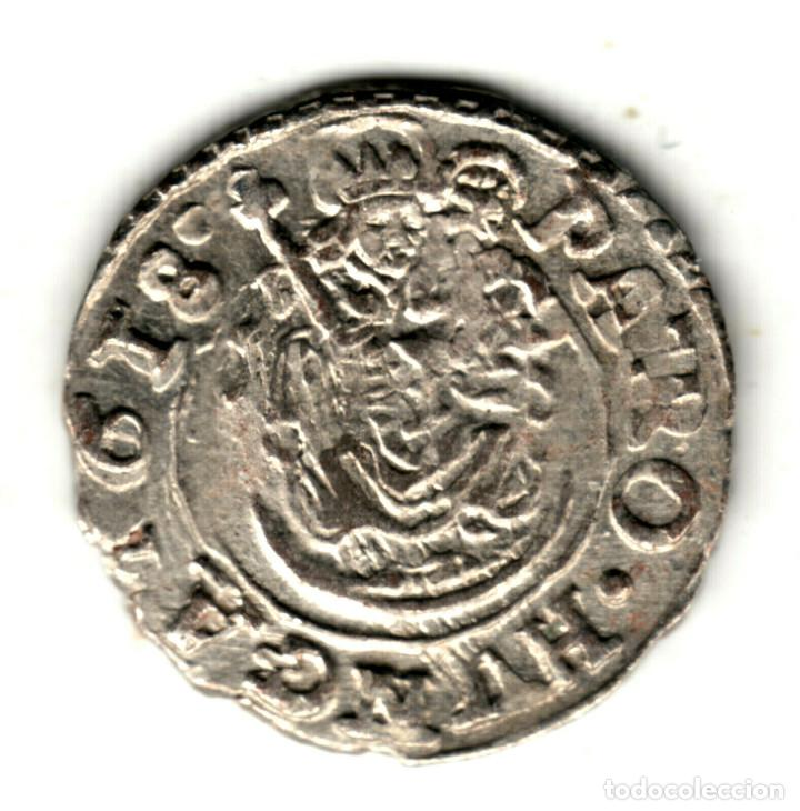 HUNGRIA DENARIO PLATA 1618 K.B. EMPERADOR MATIAS II - MATÍAS DE HABSBURGO (Numismática - Extranjeras - Europa)