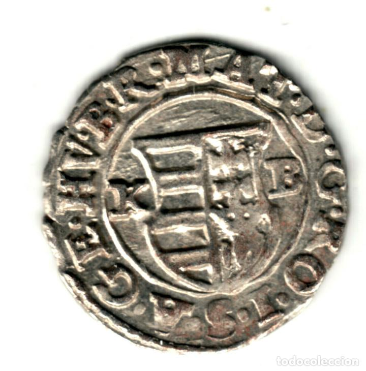 Monedas antiguas de Europa: HUNGRIA Denario plata 1618 K.B. Emperador Matias II - Matías de Habsburgo - Foto 2 - 277171198