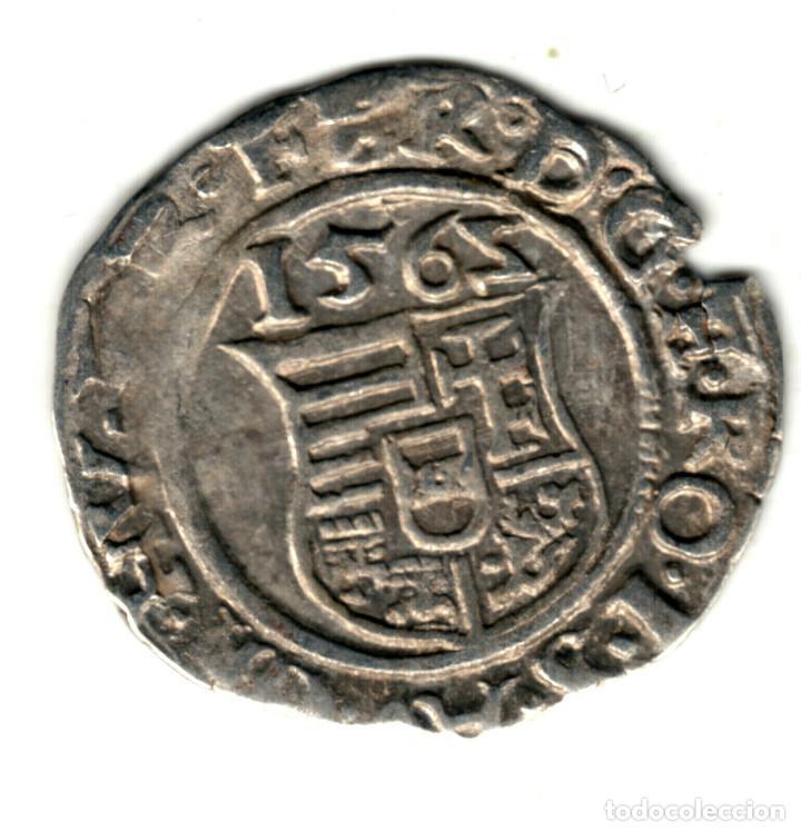 HUNGRIA DENARIO PLATA 1565 K.B. FERNANDO I DEL SACRO IMPERIO ROMANO GERMÁNICO (Numismática - Extranjeras - Europa)