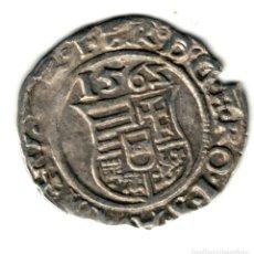 Monedas antiguas de Europa: HUNGRIA DENARIO PLATA 1565 K.B. FERNANDO I DEL SACRO IMPERIO ROMANO GERMÁNICO. Lote 277172938